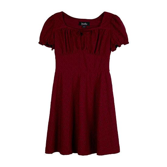 by&by Big Girls 3/4 Split Sleeve Shift Dress