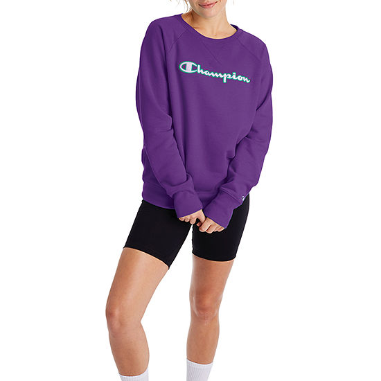 Champion Womens Crew Neck Long Sleeve Sweatshirt