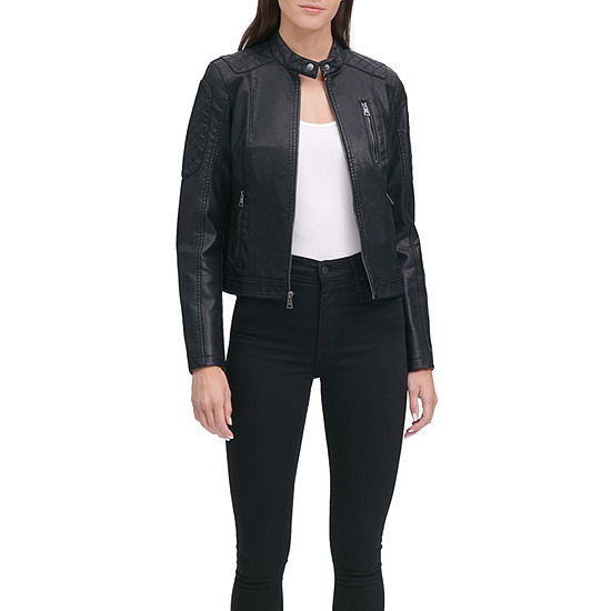 Levi's Faux Leather Water Resistant Midweight Motorcycle Jacket