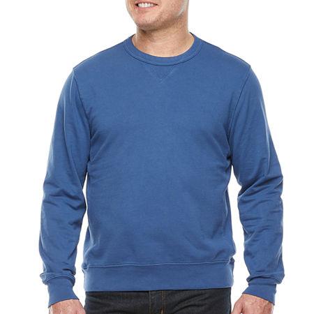 Men's Vintage Gym Clothes   Sweatshirts, Shorts, Tops, Shoes Styles St. Johns Bay Mens Crew Neck Long Sleeve Sweatshirt Medium  Blue $19.99 AT vintagedancer.com