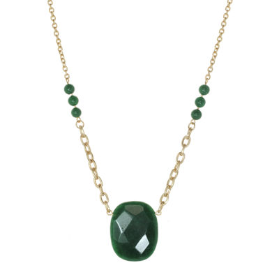 ROX by Alexa Dyed Jade Green Necklace