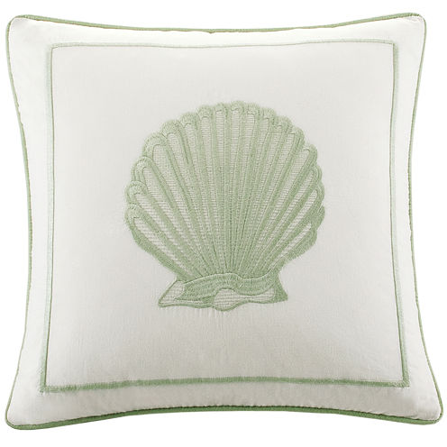 "Harbor House Brisbane Seashell 16"" Square Decorative Pillow"