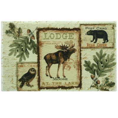 Bacova Lodge Memories Bath Rug
