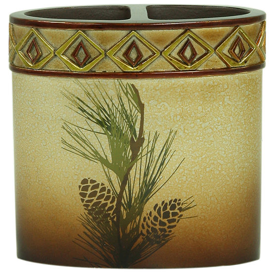 Bacova Pinecone Silhouette Toothbrush Holder