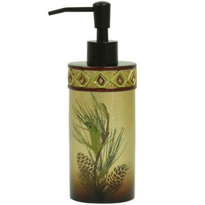 Bacova Pinecone Silhouette Soap Dispenser