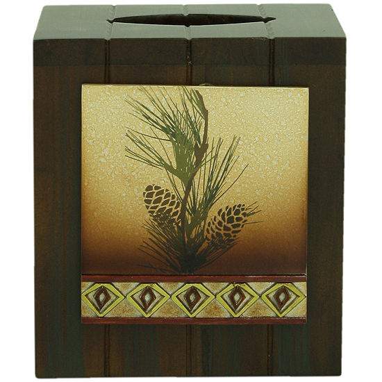 Bacova Pinecone Silhouette Tissue Holder