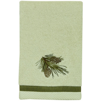 Bacova Pinecone Silhouette Fingertip Towel
