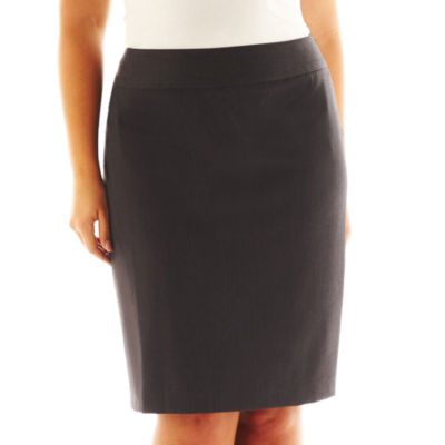 Liz Claiborne® Side-Zip Pencil Skirt - Plus