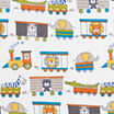 Trend Lab Circus Train Flannel  Crib Sheet
