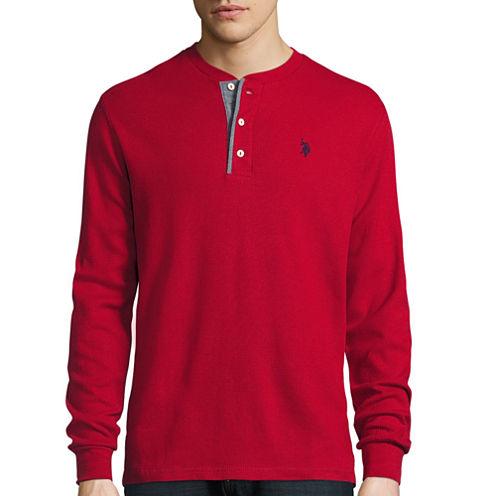 U.S. Polo Assn.® Long-Sleeve Thermal Henley Cotton Shirt