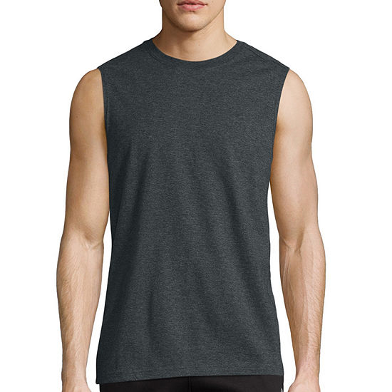 Xersion Cotton Mens Crew Neck Sleeveless T-Shirt