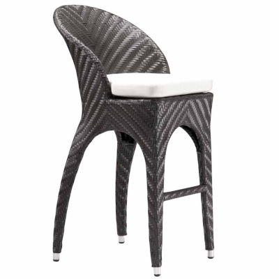 Zuo Modern Corona Patio Bar Stool