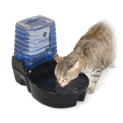 K & H Manufacturing CleanFlow Ceramic Cat Bowl with Reservoir, 80 Oz Bowl + 90 Oz Reservoir