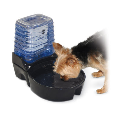 K & H Manufacturing CleanFlow Ceramic Dog Bowl with Reservoir, 80 Oz Bowl + 90 Oz Reservoir