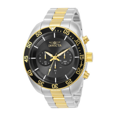 Invicta Pro Diver Mens Chronograph Two Tone Stainless Steel Bracelet Watch 30058