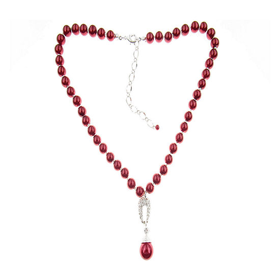 Vieste Rosa Red 18 Inch Pendant Necklace