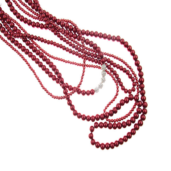 Vieste Rosa Red 18 Inch Beaded Necklace