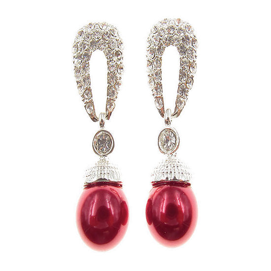 Vieste Rosa Red Drop Earrings