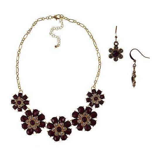 Mixit 2-pc. Flower Jewelry Set