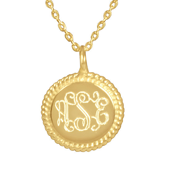 Womens 14K Gold Over Silver Pendant Necklace