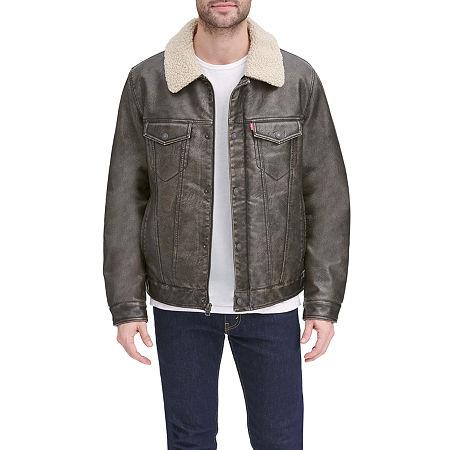 Levi's Men's Quilted Lined Trucker, Medium , Brown
