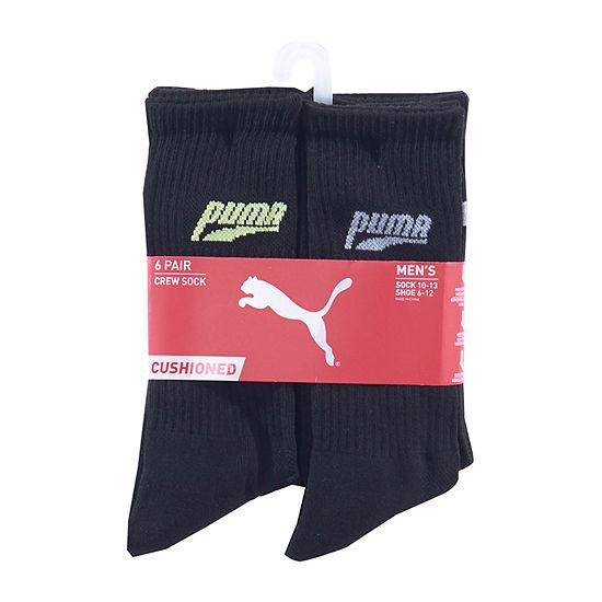 Puma 6 Pair Crew Socks-Mens