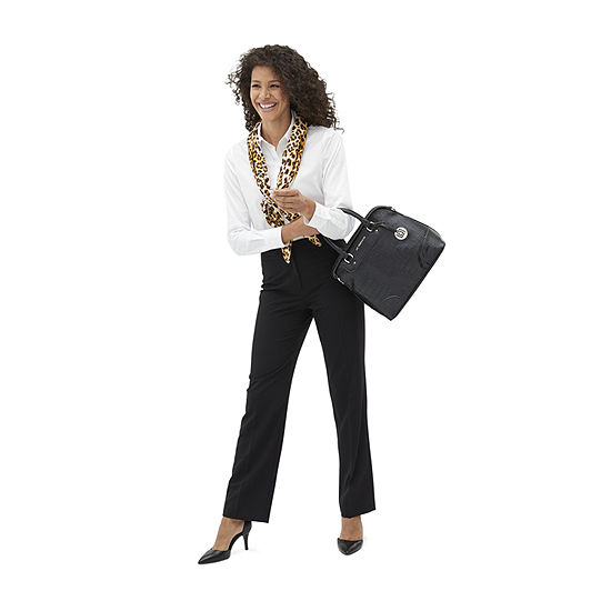 Dare to Pair: Liz Claiborne Straight Leg Trousers and White Top