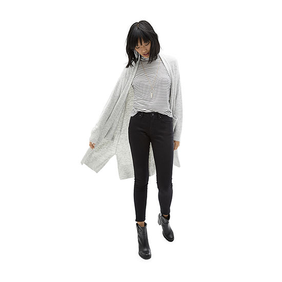 Carpe Denim: A.N.A. Ribbed Turtleneck with Cozy Duster and Black Skinny Jean