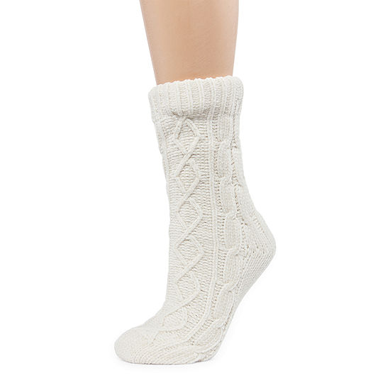 Mixit 1 Pair Chenille Slipper Sock - Womens
