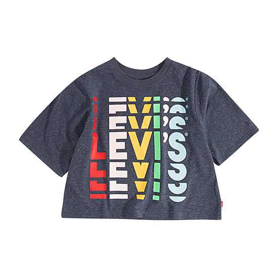Levi's Girls Crew Neck Crop Top