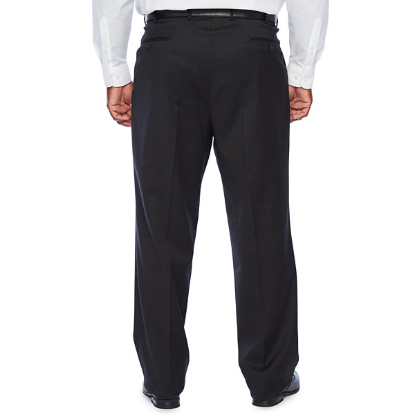 Stafford Super Checked Stretch Suit Pants