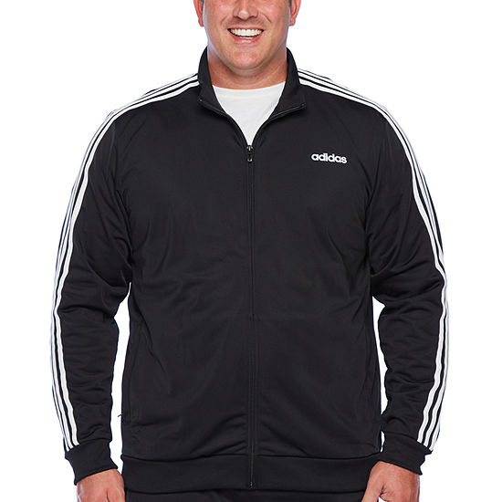 adidas Essential 3 Stripe Lightweight Track Jacket - Big and Tall