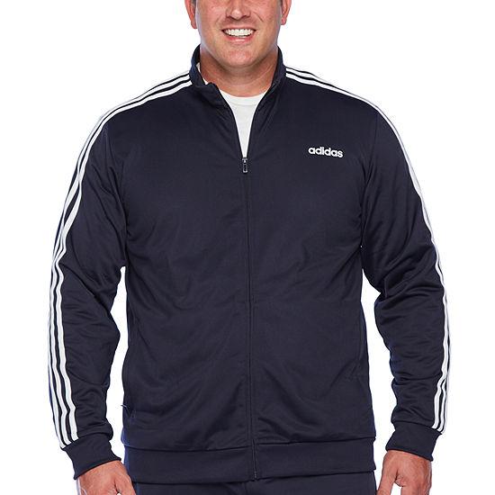 adidas Essential 3 Stripe Lightweight Track Jacket - Big and Tall