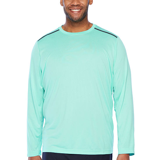 Msx By Michael Strahan Mens Crew Neck Long Sleeve T-Shirt-Big and Tall
