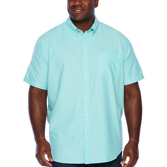 The Foundry Big & Tall Supply Co.Mens Short Sleeve Button-Front Shirt -  Big and Tall