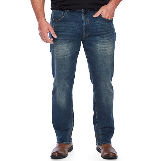 The Foundry Big & Tall Supply Co. Mens Mid Rise Straight Athletic Fit Jean-Big and Tall