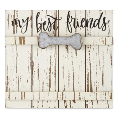 "PAW & TAIL ""My Best Friends"" Wood & Galvanized Frame"