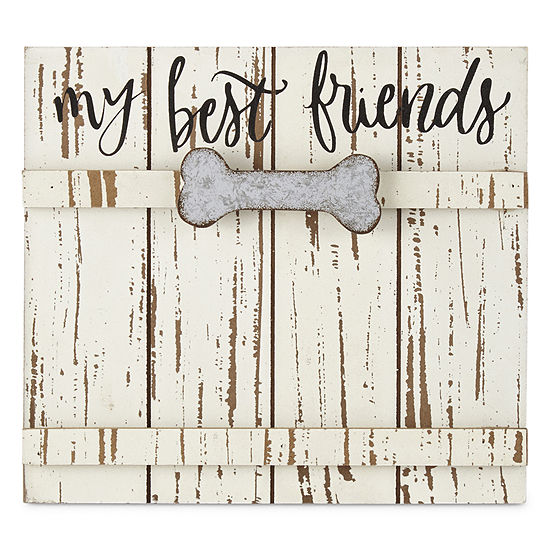 "PAW & TAIL ""My Best Friends"" Wood & Galvanized Frame"