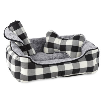 PAW & TAIL Gingham Dog Bed Set