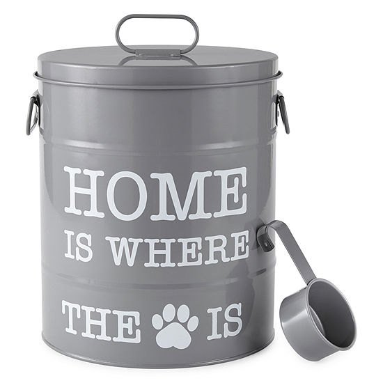 """PAW & TAIL """"Home Is Where The Dog Is"""" Dog Food Storage Canister"""