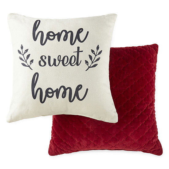 JCPenney Home Home Sweet Home Square Throw Pillow