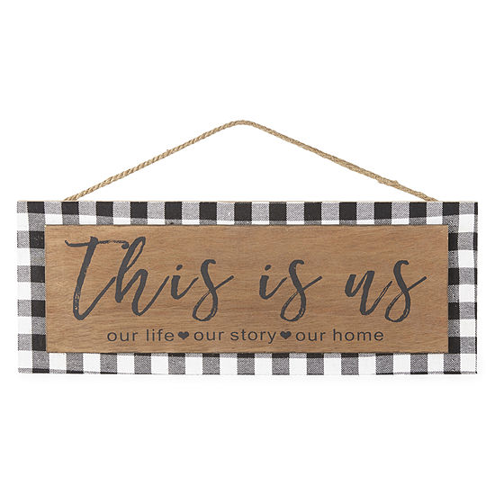 JCPenney Home This Is Us Gingham Wall Sign