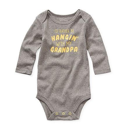 Okie Dokie Baby Boys Bodysuit, 12 Months , Gray