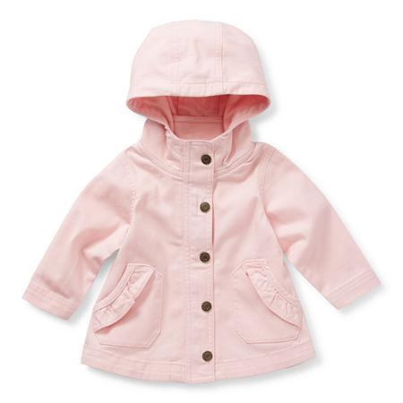 Okie Dokie Baby Girls Midweight Anorak, 3 Months , Pink