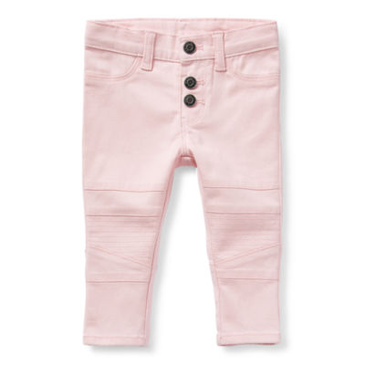 Okie Dokie Moto Baby Girls Mid Rise Skinny Pull-On Pants