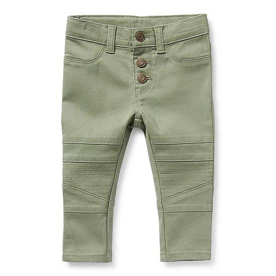 Okie Dokie Moto Baby Girls Mid Rise Skinny Pull-On Pants