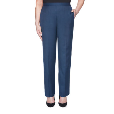 Alfred Dunner Wisteria Lane Womens Straight Pull-On Pants