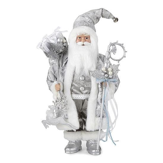 """North Pole Trading Co. 18"""" Frozen Santa Figurine"""