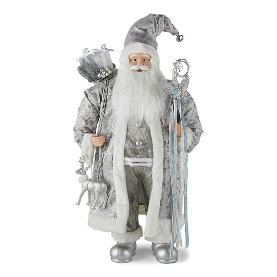 "North Pole Trading Co. 36"" Frozen Santa Figurine"