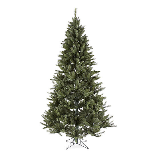 North Pole Trading Co. Sleigh Ride 7 1/2 Foot Spruce Pre-Lit Multi-Function Lights Christmas Tree